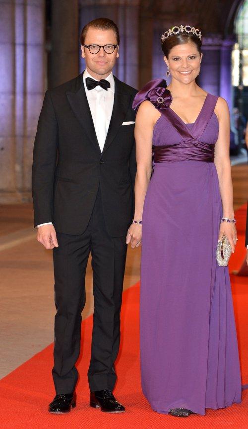 Victoria y Daniel de Suecia en la última cena organizada por Beatriz de Holanda como Reina