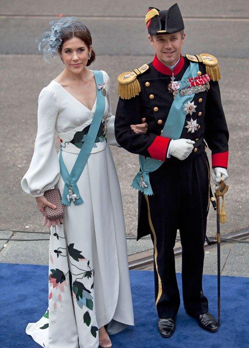Federico y Mary de Dinamarca en la coronación de Holanda