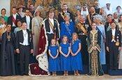 Foto de familia tras la coronación de Guillermo de Holanda