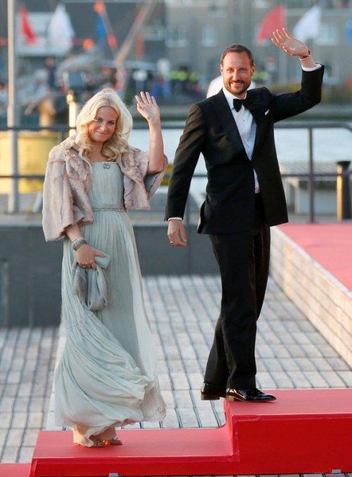 Haakon de Noruega y Mette Marit en la primera cena de Guillermo y Máxima Zorreguieta como reyes