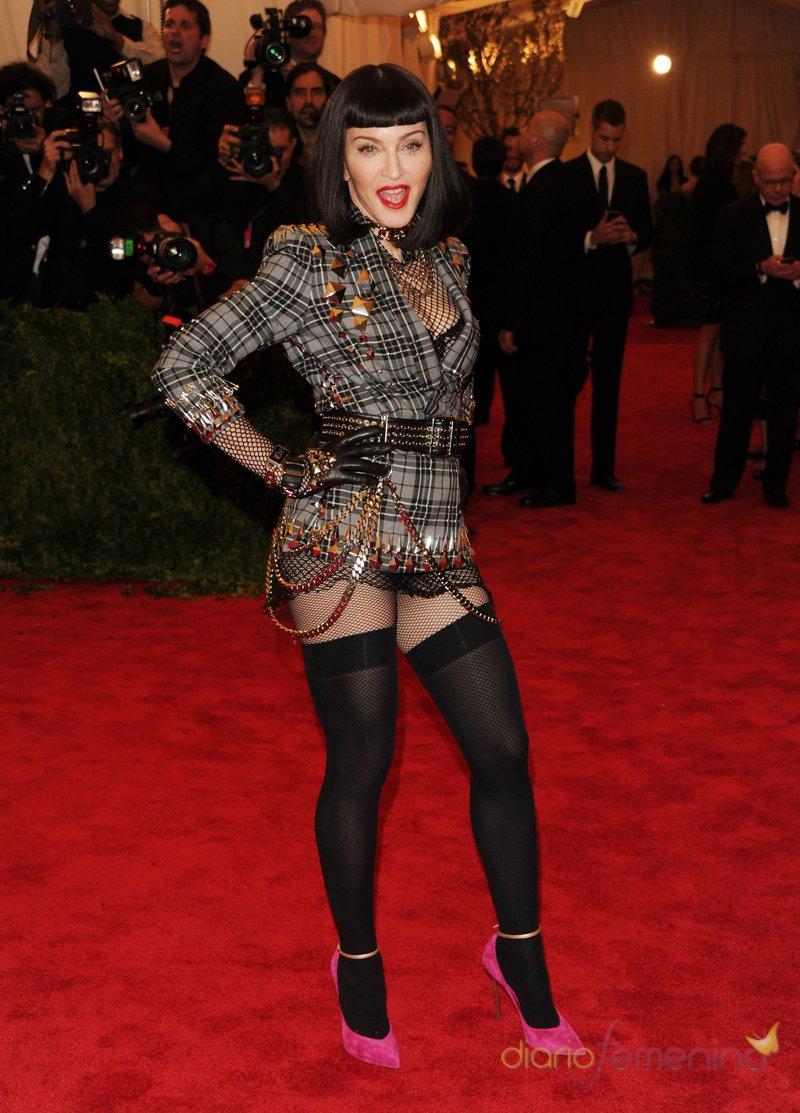 El look de Madonna en la gala MET 2013 dedicada a la estética Punk