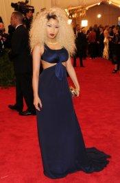 El look de Nicki Minaj en la gala MET 2013 dedicada a la estética Punk