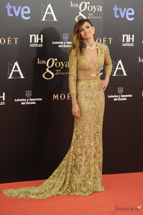 Vestidos de noche: Dorado con brillos de Goya Tolado