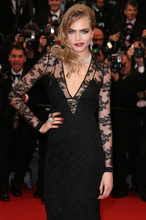 El look de Cara Delivigne en el Festival de Cannes 2013