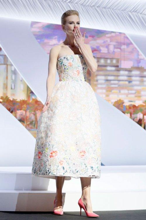 El vestido floral de Nicole Kidman en el Festival de Cannes 2013