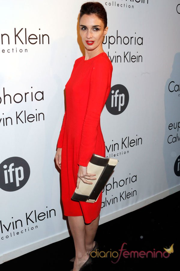 Paz Vega, de naranja en la fiesta Calvin Klein del Festival de Cannes 2013
