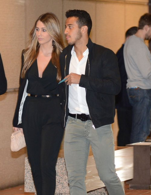 Julia Vigas, la novia de Thiago Alcántara, en la cena del FC Barcelona