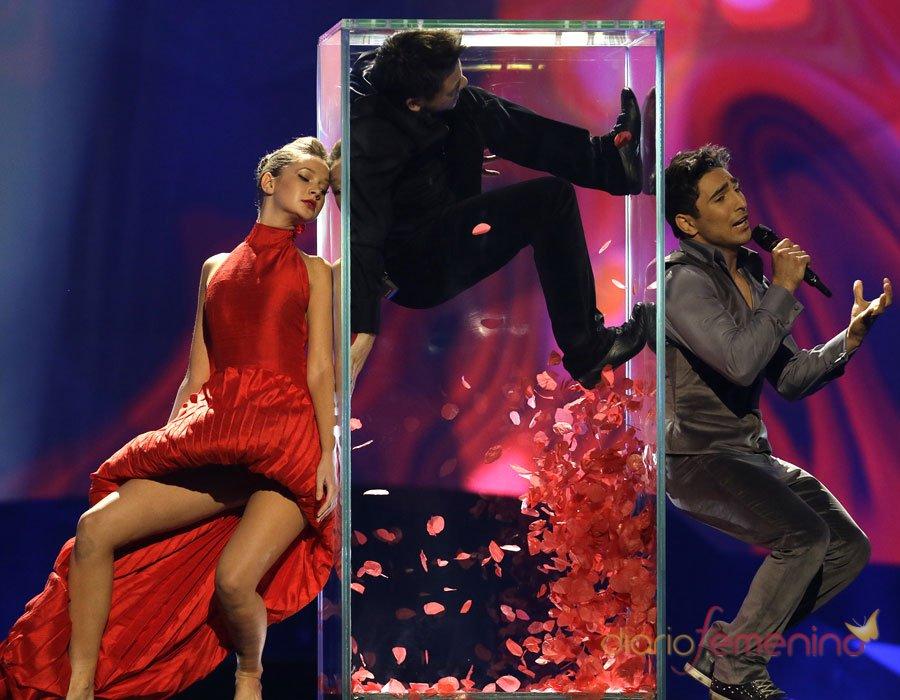 Eurovisión 2013: El representante de Azerbaiyán durante la gala final
