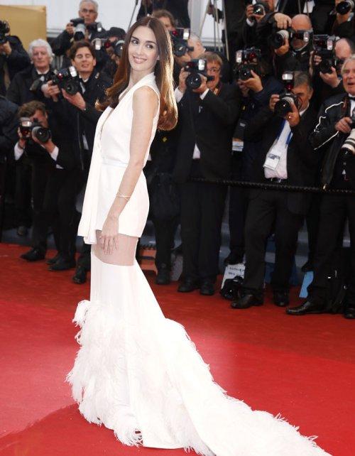 Paz Vega con un vestido muy arriesgado en Cannes 2013