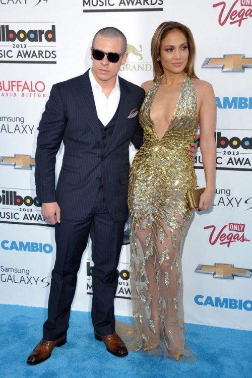 Jennifer López y su novio, Casper Smart, en los Billboard Music Awards 2013