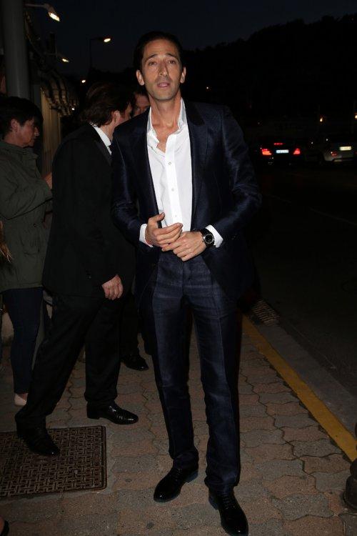 Adrien Brody, elegancia francesa en el Festival de Cannes 2013