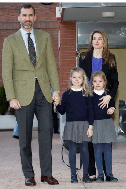 Letizia, el Príncipe Felipe y las Infantas Leonor y Sofía