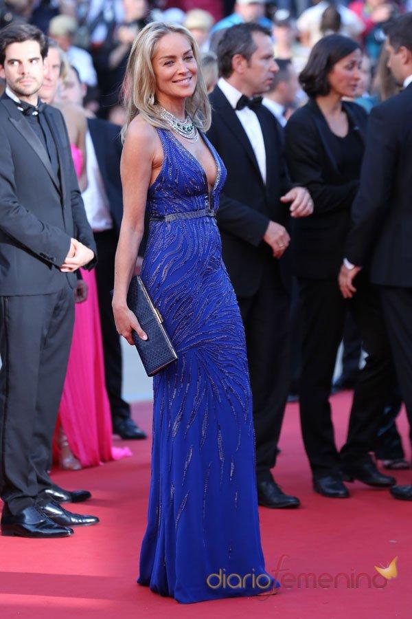 Sharon Stone, las dos caras en Cannes 2013