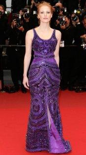 Jessica Chastain, un vestido de fiesta joya en Cannes 2013