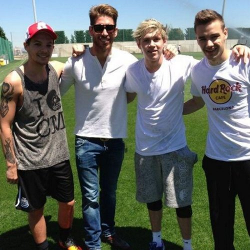 One Direction con Sergio Ramos: fans del Real Madrid