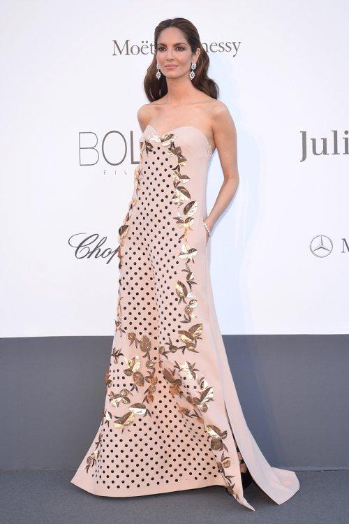 Eugenia SIlva, espectacular en la gala Amfar celebrada en el Festival de Cannes 2013