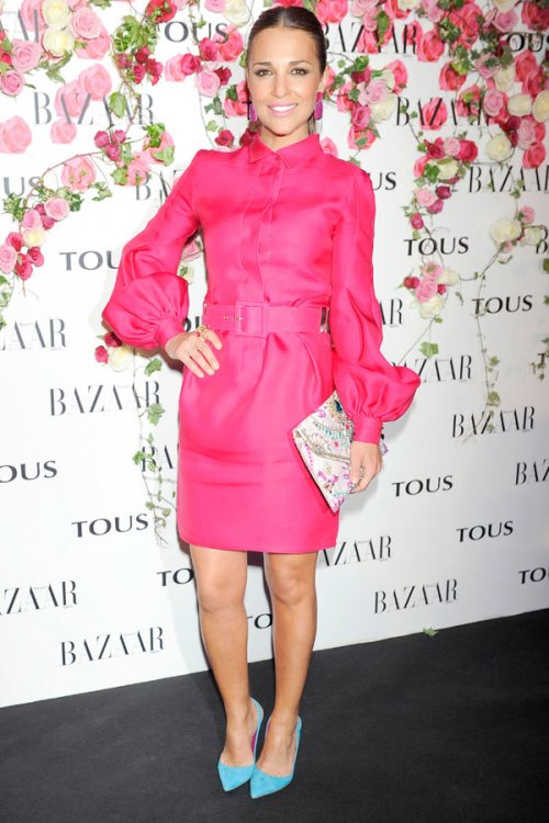 El vestido rosa de Paula Echevarría: su look más colorido