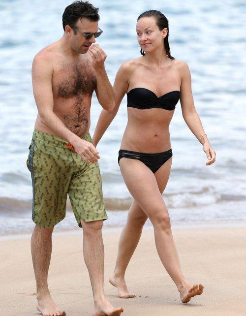 Olivia Wilde, en bikini y su novio en bañador: adictos a la playa
