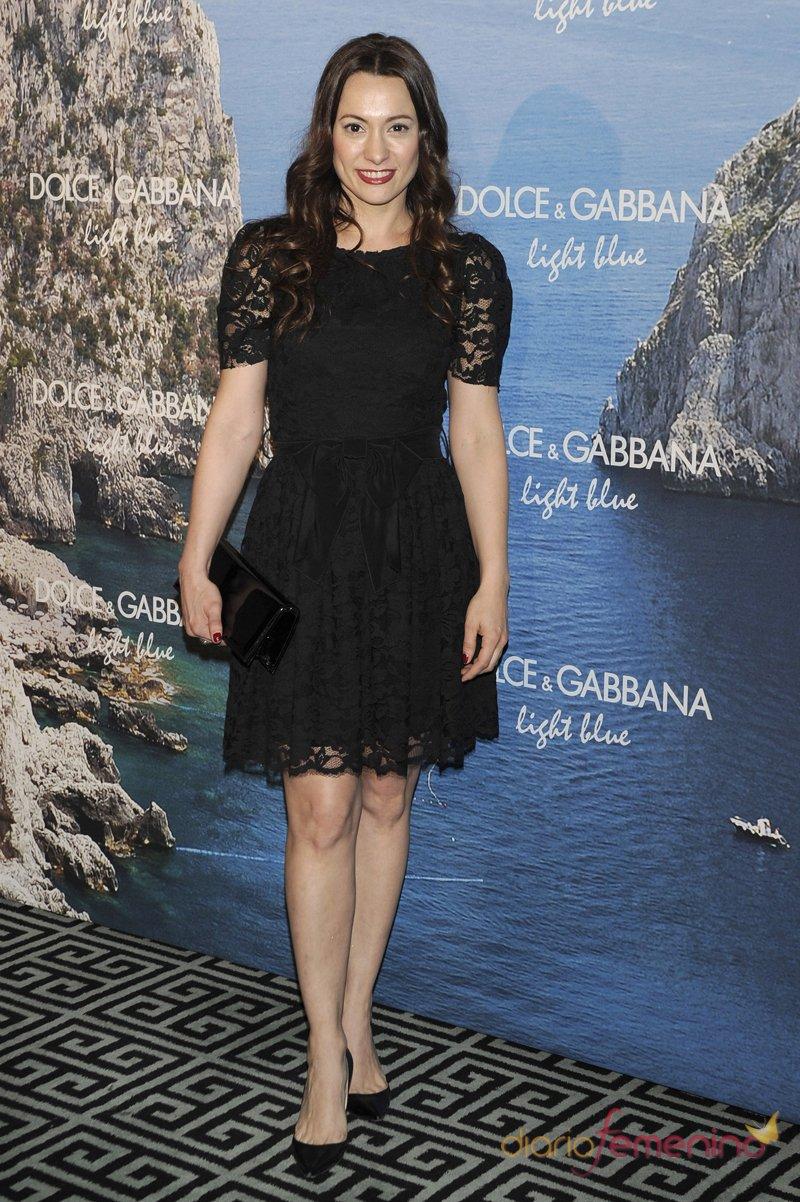 Natalia Verbeke, con vestido negro, en la fiesta Dolce y Gabbana Mediterranean Summer 2013