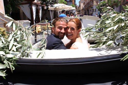 Divertida foto de Raquel Sánchez Silva y Mario Biondo el día de su  boda