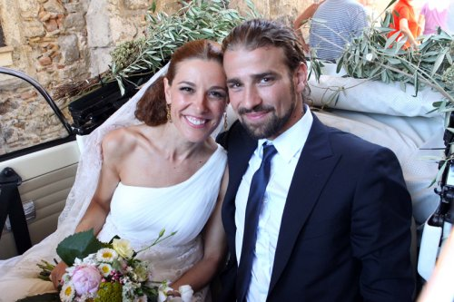 Mario Biondo y Raquel Sánchez SIlva, felices el día de su boda