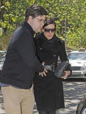 Raquel Sánchez Silva a su llegada al anatómico forense tras la muerte de su marido, Mario Biondo