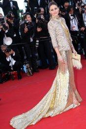 Olivia Palermo, de dorado y mal vestida en los CFDA 2013