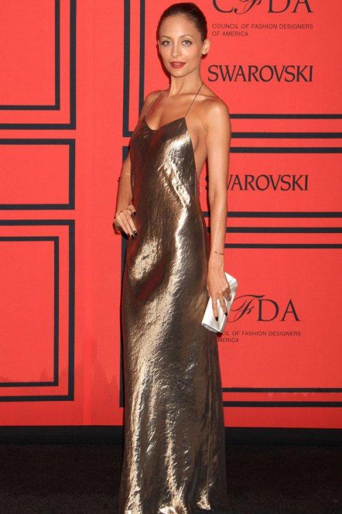 Nicole Richie, el vestido camisón de los CFDA 2013