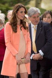 Cómo vestir cuando estás embarazada: Kate Middleton, versión rosa