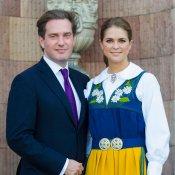 Magdalena de Suecia, con el traje nacional y Chris O'Neill
