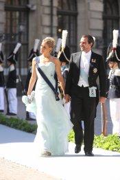 Nikolaos de Grecia y su mujer Tatiana en la Boda Real de Suecia