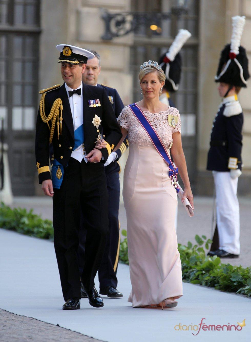 El príncipe Eduardo de Wessex y su mujer Sofía en la Boda Real de Suecia