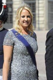 Teodora de Suecia en la Boda Real de Suecia