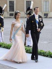 Joaquín y María de Dinamarca en la Boda real de Suecia