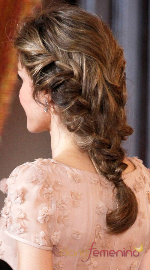 El look de Letizia: la trenza de la princesa