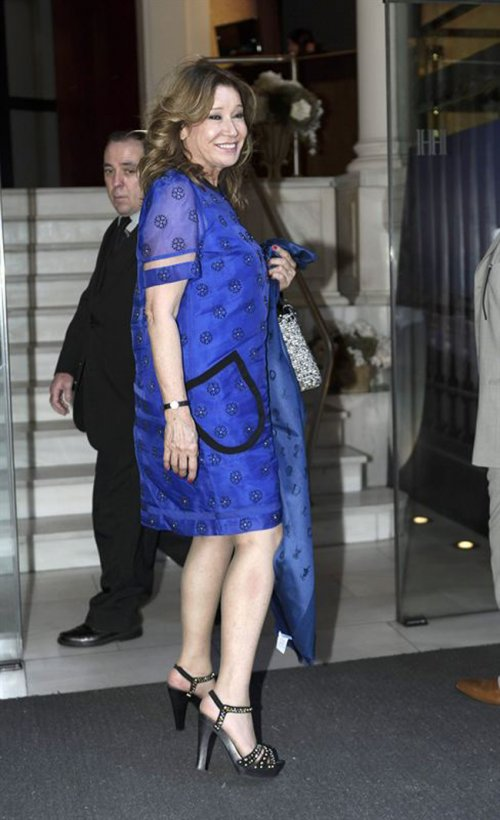 El look de Mila Ximénez en la boda de la directora de 'Sálvame Deluxe'