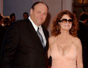 James Gandolfini, con su amiga Susan Sarandon