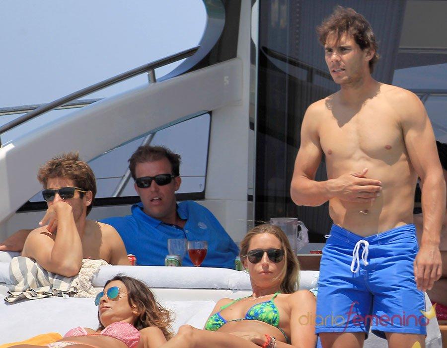 Rafa Nadal y Gemma Mengua, juntos y en bañador