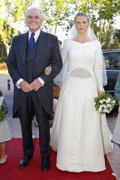 Leticia con su padre Ramón Calderón durante su boda con Manuel Lastra
