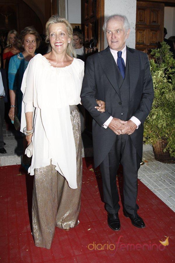 Ramón Calderón y Teresa Galán son los padres de la novia Leticia