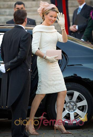 El look de la reina Matilde en la ceremonia de investidura