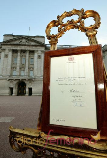 Anuncio del nacimiento del bebé de los duques de Cambridge