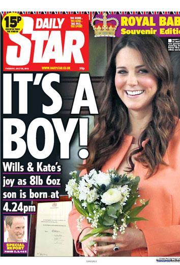 La prensa internacional se hace eco del nacimiento del bebé de Kate y Guillermo