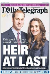 La noticia del nacimiento del bebé real acapara las portadas de los periódicos