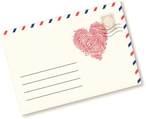 Carta de amor en una postal