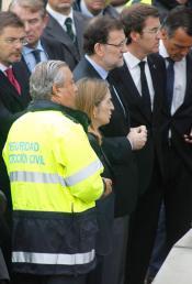 Rajoy llega al lugar de la tragedia de tren en Galicia después de su equivocación en el comunicado de condolencias