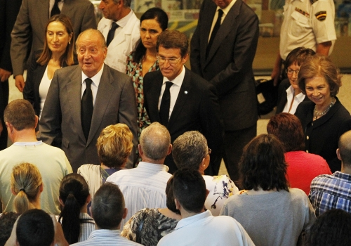 Los Reyes han hablado con los familiares de las víctimas del accidente de tren de Santiago