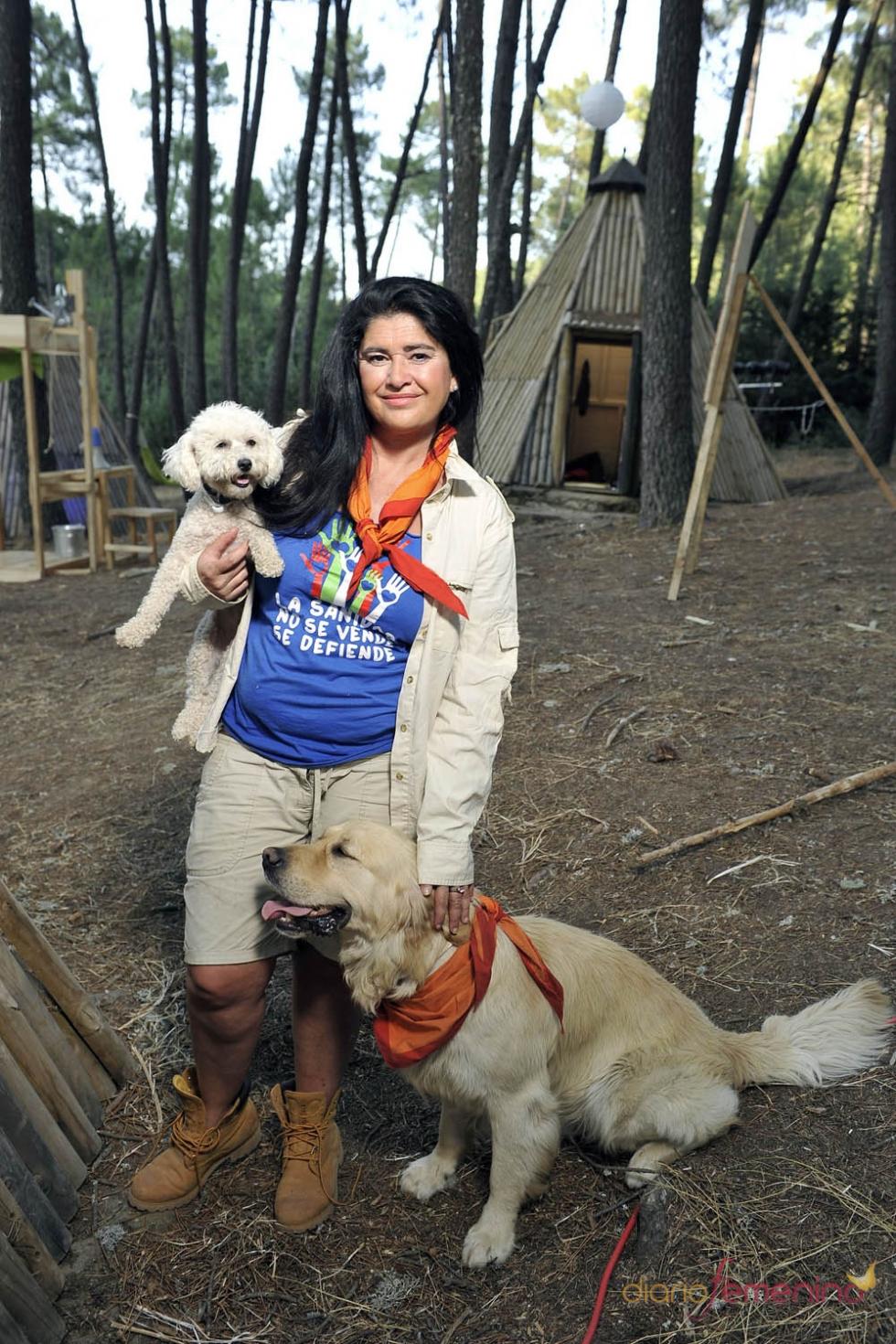 Lucía Etxebarría fue una sorpresa de Campamento de Verano de Telecinco