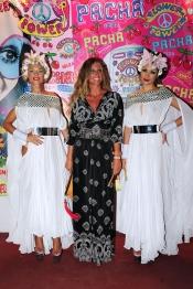 Natalia Álvarez, la ex mujer de Rafa Camino, en la fiesta Flower Power 2013 en Ibiza