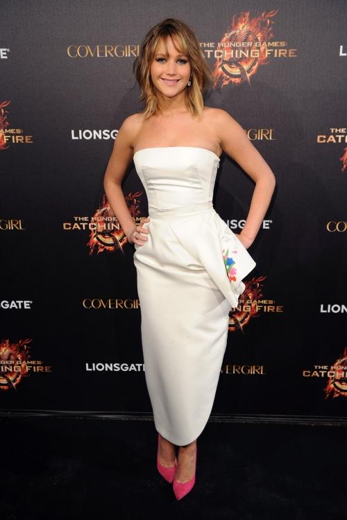 Jennifer Lawrence en la fiesta de los Juegos del Hambre en Cannes